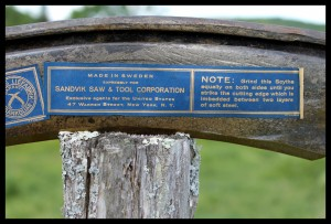 "The second label on a Banko 16"" bush blade."